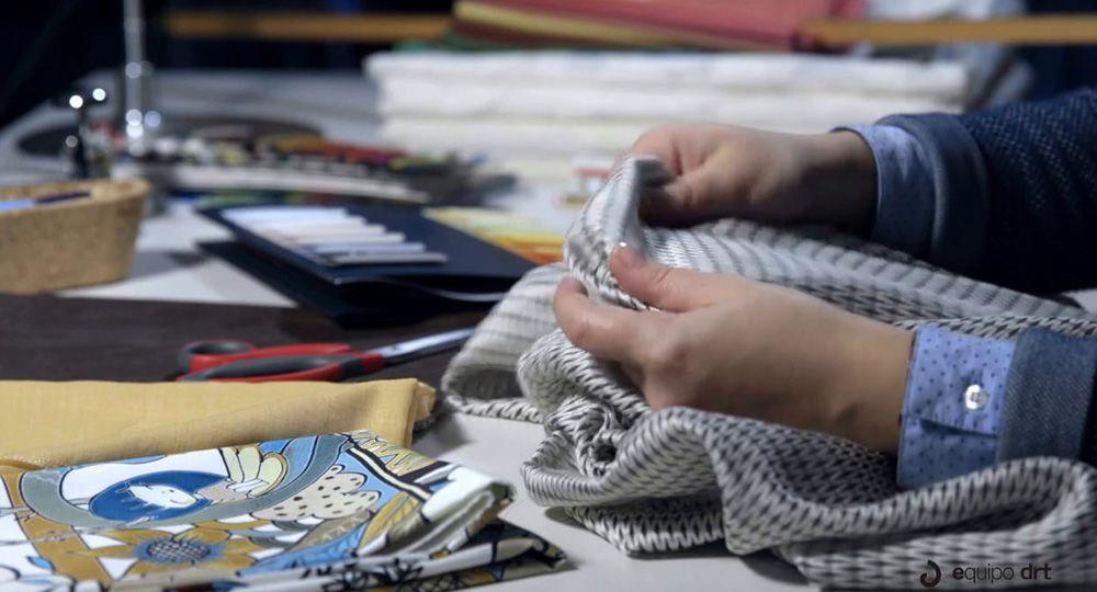 Sensaciones en la arquitectura, diseño textil de Equipo DRT
