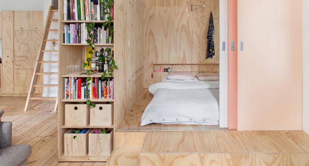 Viviendo en una caja de madera, apartamento Flinders Lane