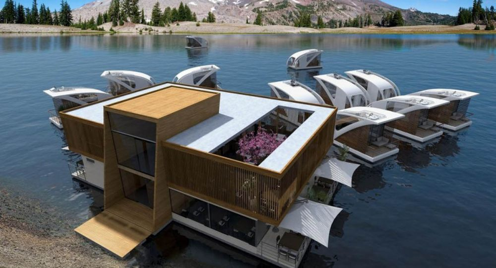 Hotel flotante modular.Estudio  Salt & Water