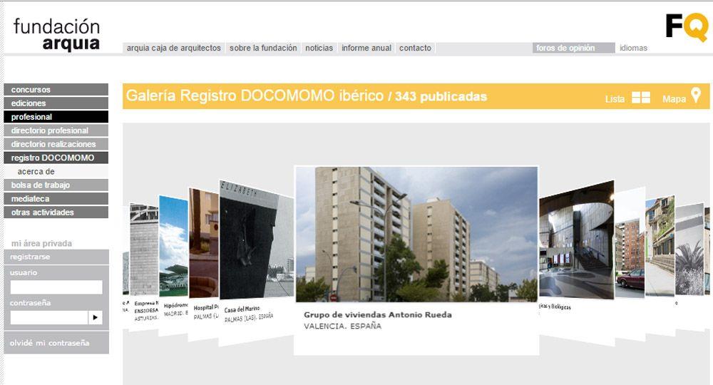 Nuevo Geolocalizador para visitar los edificios contenidos en los Registros DOCOMOMO Ibérico