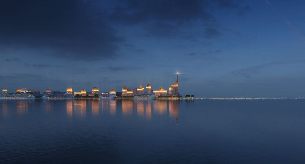 Golden City. El Equipo de Arquitectos KCAP y ORANGE premiados por este proyecto en la Isla de Vasilyevsky.