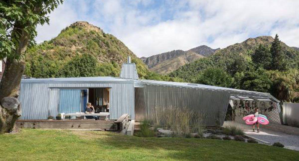 Hamilton Family Home, una original vivienda de Bull O'Sullivan Architecture en Arrowtown, Nueva Zelanda.