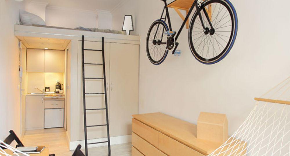 Micro arquitectura apartamento completo a peque a escala for Espacios minimos arquitectura