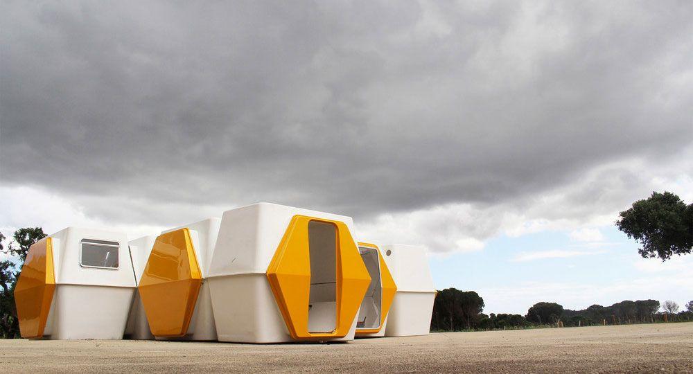 Hexacube: arquitectura futurista de los 70