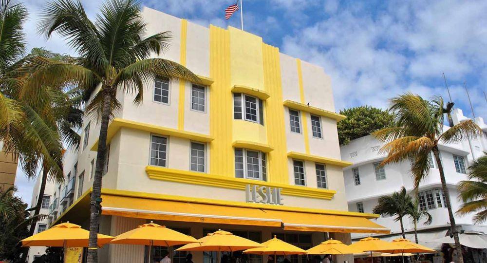 Hotel Leslie 1937. Arquitectura Art Decó de Miami Beach