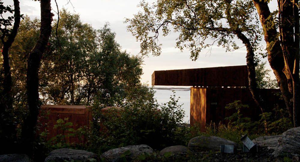 Hustadvika Tools, un pabellón de verano de Rever & Drage Architects  en Noruega.