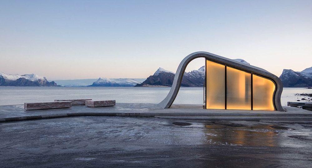 Nueva área de descanso en las Norwegian Scenic Routes diseñada por los arquitectos Haugen/Zohar Arkitekter (HZA).