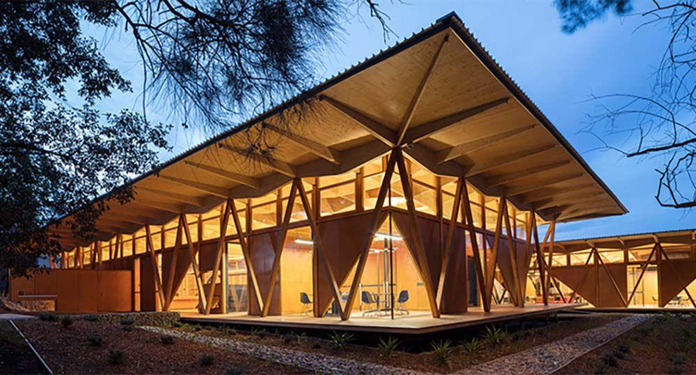 Arquitectura modular, sostenible y reutilizable en el campus de la Macquarie University, en Nueva Gales del Sur, Australia. Architectus