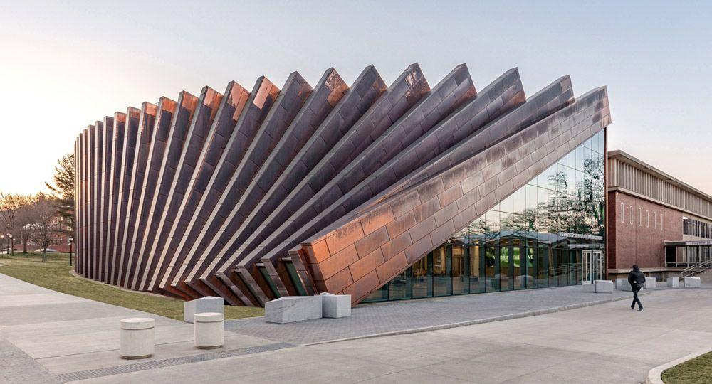 BIG crea un dominó de cobre para la Universidad de Massachussets