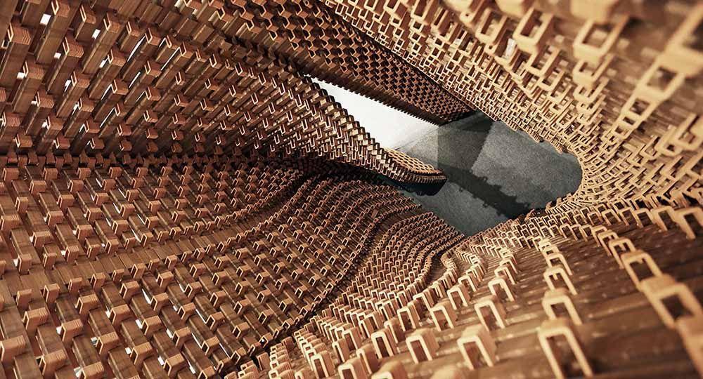 Ceramic Constellation Pavilion. Las posibilidades plásticas de los ladrillos impresos en 3D en el diseño arquitectónico.