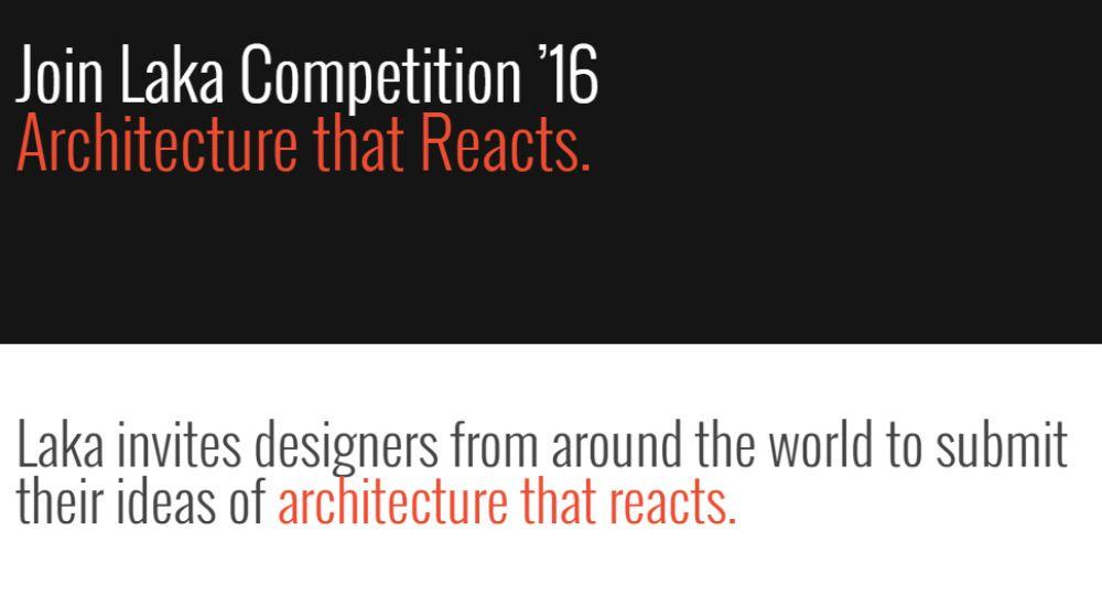 Concurso Laka Reacts. Arquitectura que reacciona