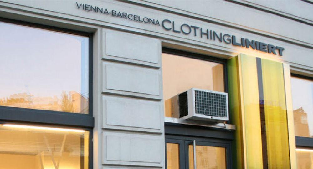 Liniert showroom, arquitectura en patrones