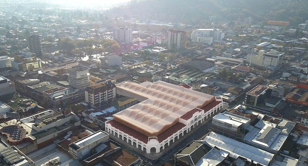 Madera para  rehabilitación del  mercado Municipal de la ciudad de Temuco en Chile