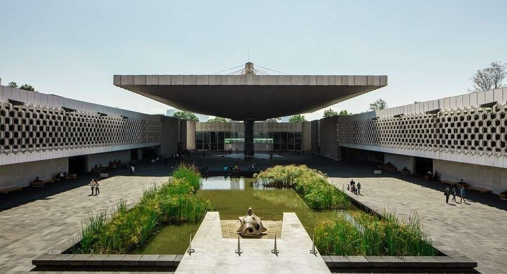 El museo nacional de antropolog a un hito de la - Que es un porche en arquitectura ...