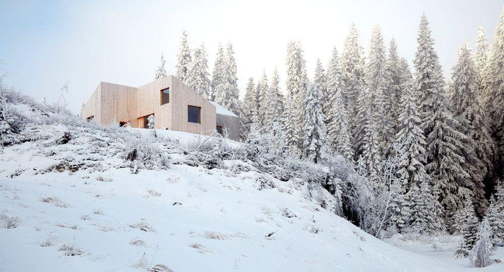 Una cabaña única en el bosque de Mork-Ulnes Architects