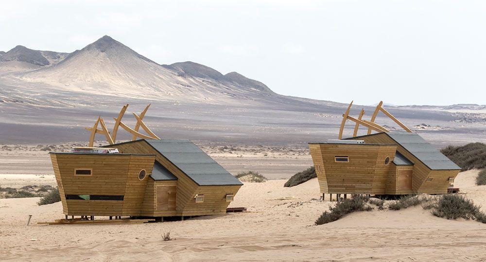 Arquitectura hotelera sostenible en climas extremos. Shipwreck Lodge, Namibia. Nina Maritz Architects