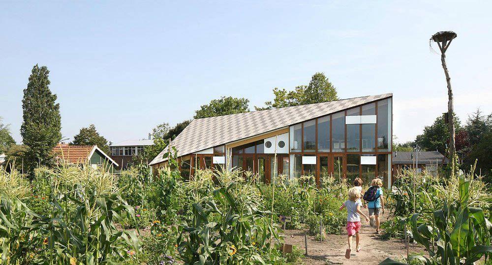 Educación medioambiental en un edificio sostenible. Centro Educativo NME, Amsterdam
