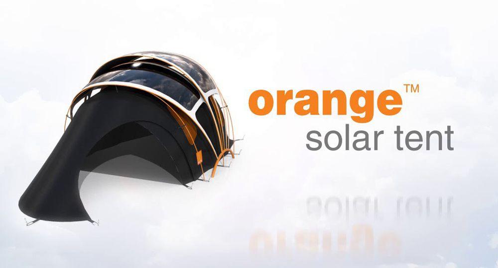 Orange Solar Tent, arquitectura sostenible plegable