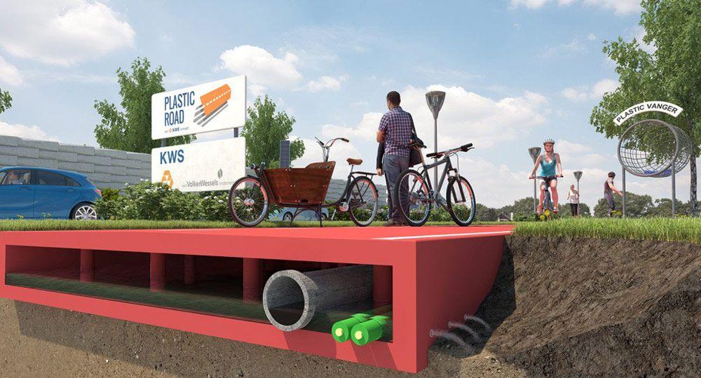 Plastic Road, arquitectura urbana fabricada con desechos plásticos