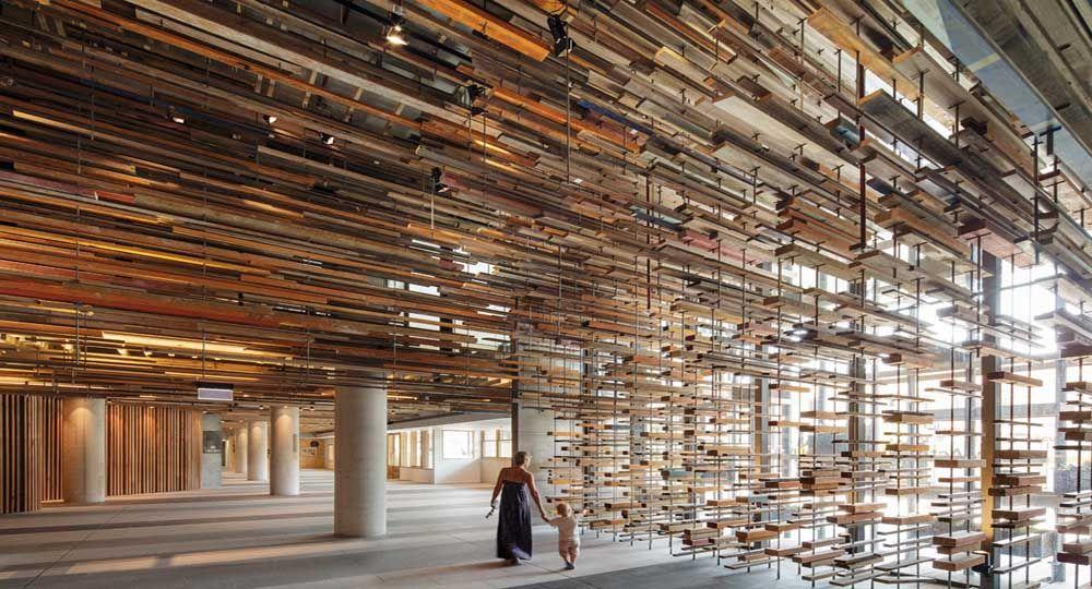"""Arquitectura con elementos reciclados para el Lobby de un edificio: """"Nishi Comercial"""""""