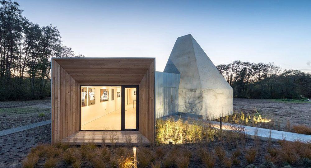 Arquitectura piramidal de hormigón