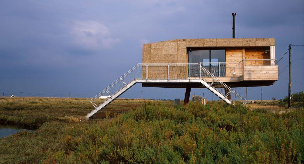 """""""Redshank"""", la vivienda ecológica para el artista Marcus Taylor diseñada por Lisa Shell Architects"""