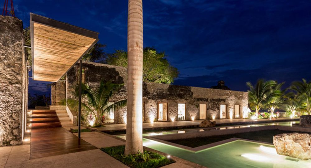 Hacienda Niop,Campeche, México: Arquitectura rehabilitada y transformada en Residencia de fines de semana