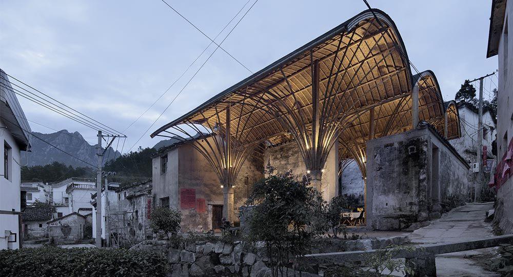 Un Salón para el Pueblo de Shangcun, por SUP Atelier