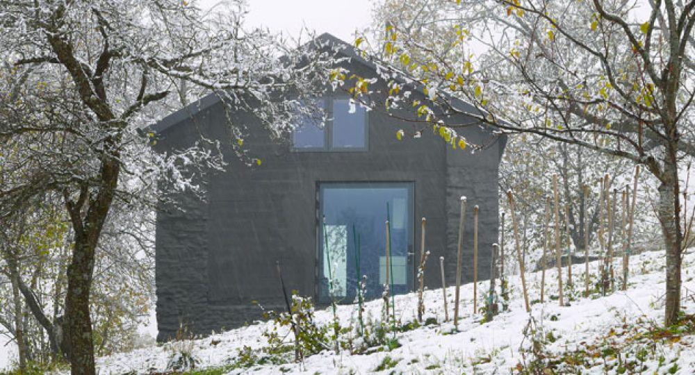 Maison Savioz, la casa en la colina