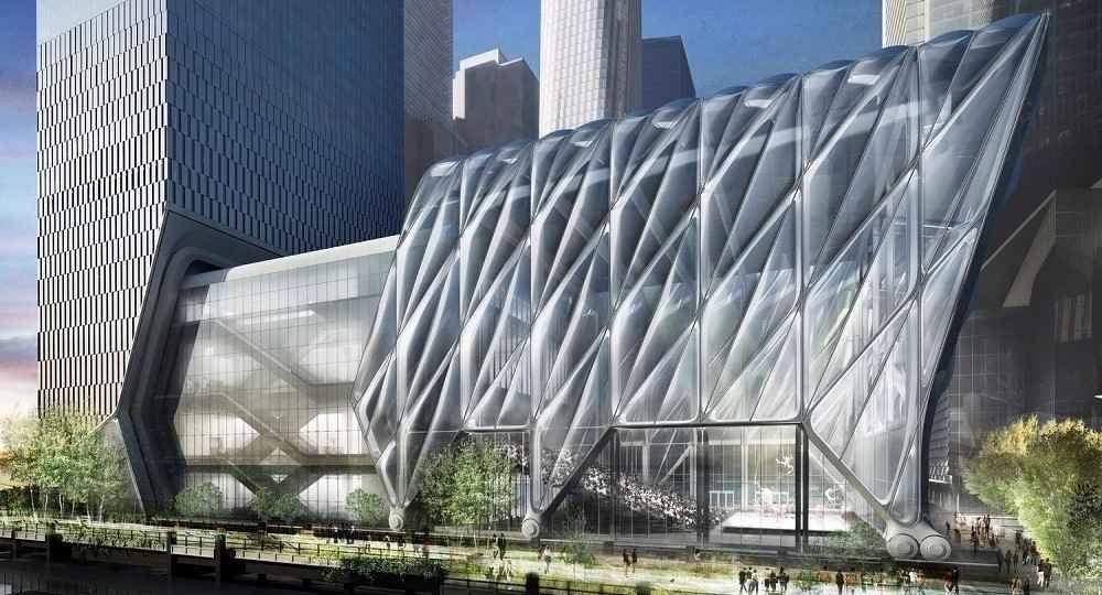 Arquitectura extensible. Centro artístico The Shed en construcción