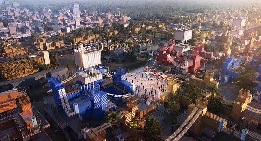 Sheltainer, un proyecto de vecindario creado con contenedores para la necrópolis de El Cairo.