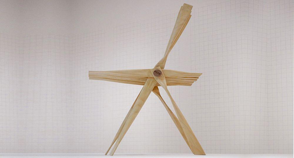 Silla Pepe inspirada en el proceso de elaboración de caliqueños