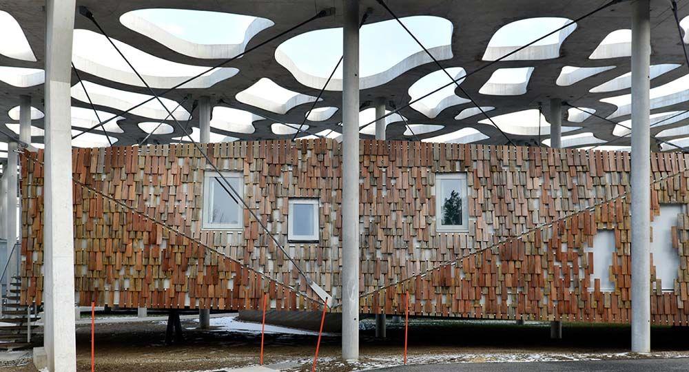 Una nueva vivienda de Kengo Kuma para la Fundación Jan Michalski en Montricher, Suiza.