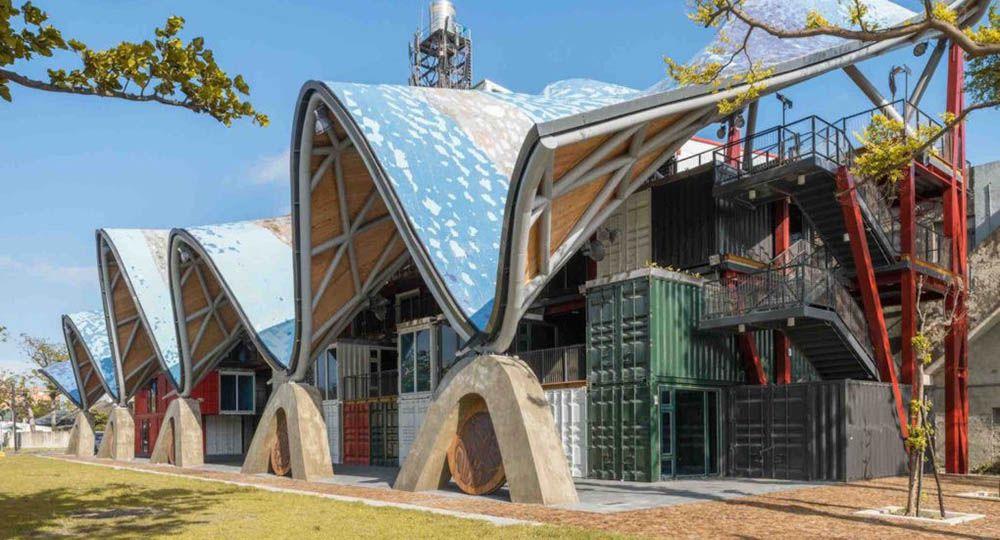 La arquitectura sostenible de la Taitung Aboriginal Gallery, Taiwan. BAF,  Bio-architecture Formosana.