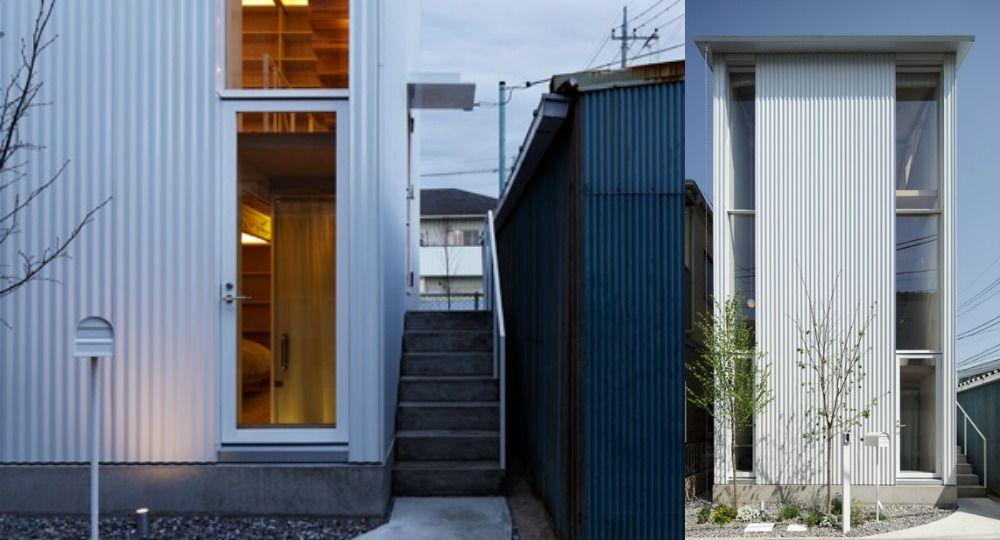White hut  &  Tilia japonica, vivienda vertical de Takahashi Maki