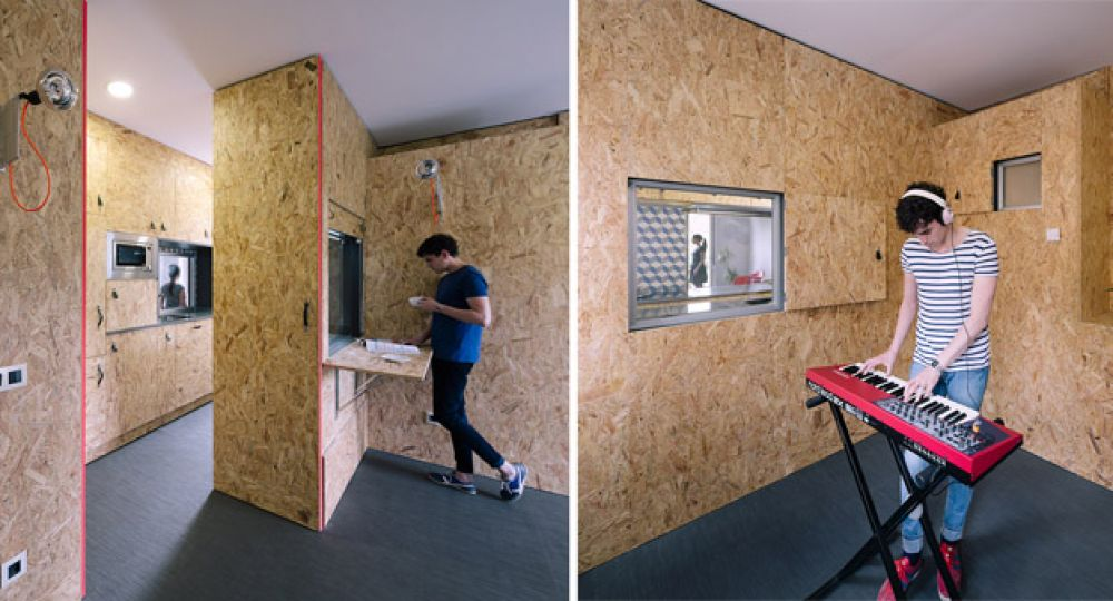 "Hogares unipersonales, otra arquitectura interior es posible: ""The POP-UP House"""