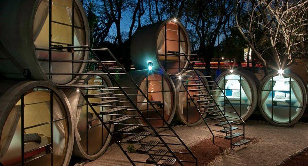 TuboHotel, un hotel de arquitectura ecológica
