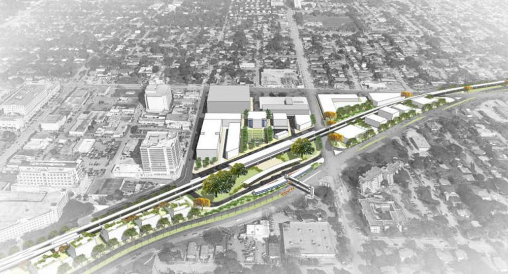 """Rehabilitación bajo el metro de Miami.  """"The Underline"""", un parque lineal de 16 kilómetros que  trasformará la zona."""