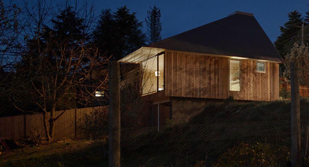 Blue Mountains CLT Studio, vivienda mínima prefabricada. Design King Company