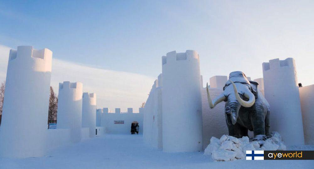 Arquitectura bajo cero: Castillo de nieve de Kemi