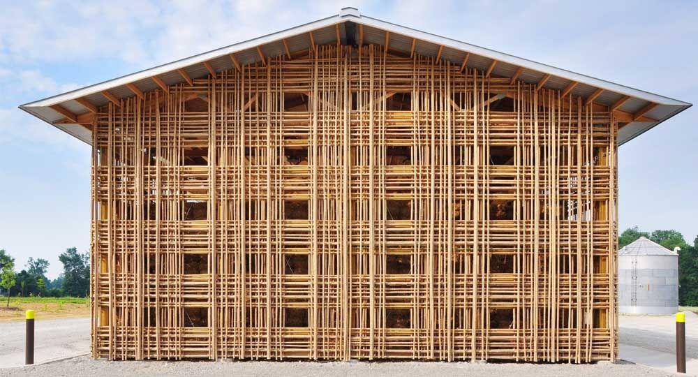 Mason Lane Farm exhibe una delicada construcción en bambú