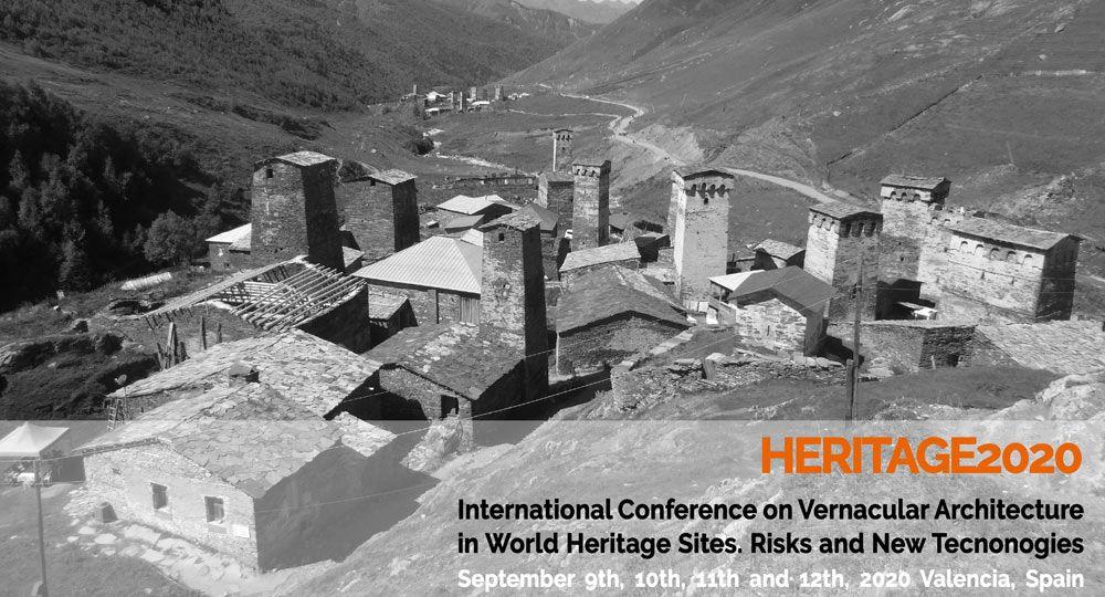 HERITAGE2020: Congreso Internacional sobre Arquitectura Vernácula