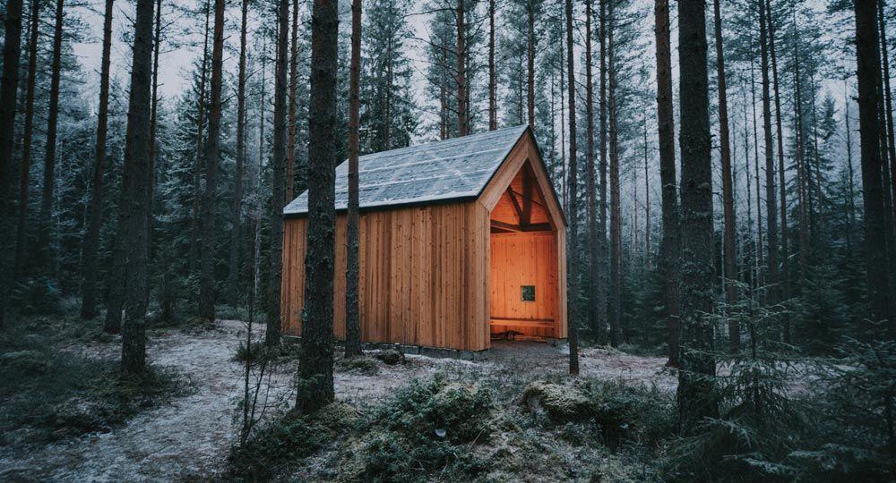 Refugio de la iglesia de piedra - Kirkkovi Wooden Shelter
