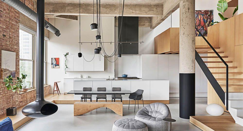 Michigan Loft, transformación inteligente de espacios interiores. Vladimir Radutny Architects.