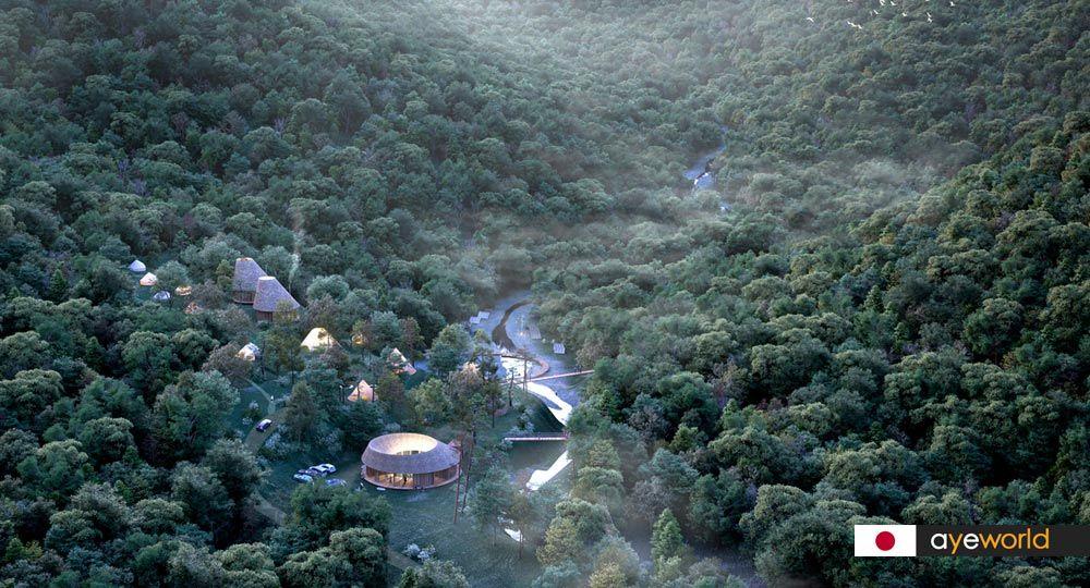 Parque de aventuras Nordisk Hygge Circles Ugakei. Third Nature Architects