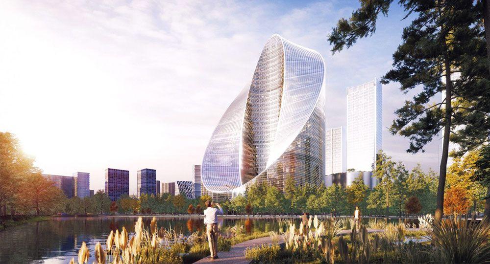 Nueva sede I+D de OPPO en Hangzhou. Proyecto O-Tower de BIG