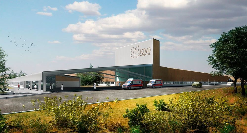 Arquitecturas sanitarias I-COVID por PMMT Arquitectura