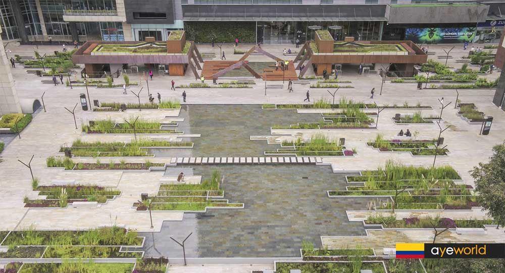 Urbanismo Ambiental: Zonas Comunes del Centro Empresarial Santa Bárbara - CESB