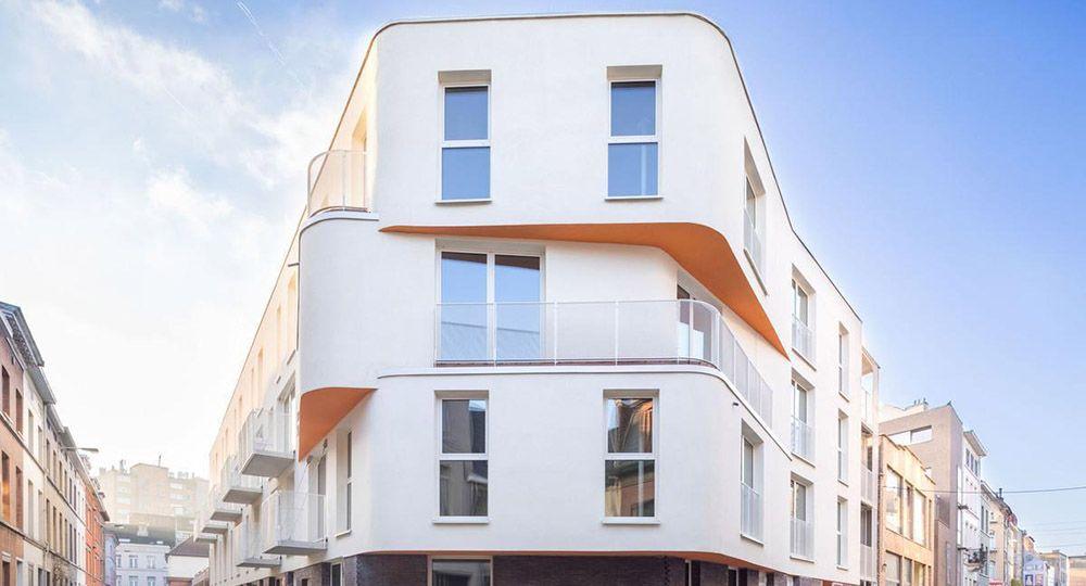 """Proyecto """"Perle"""", un edificio sostenible construido con CLT en Bruselas. DXA.Archi"""