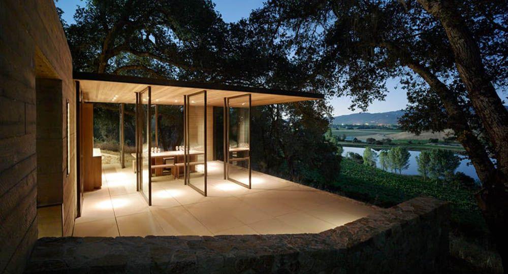 Quintessa Pavilions, fusión entre arquitectura y paisaje. Walker Warner Architects